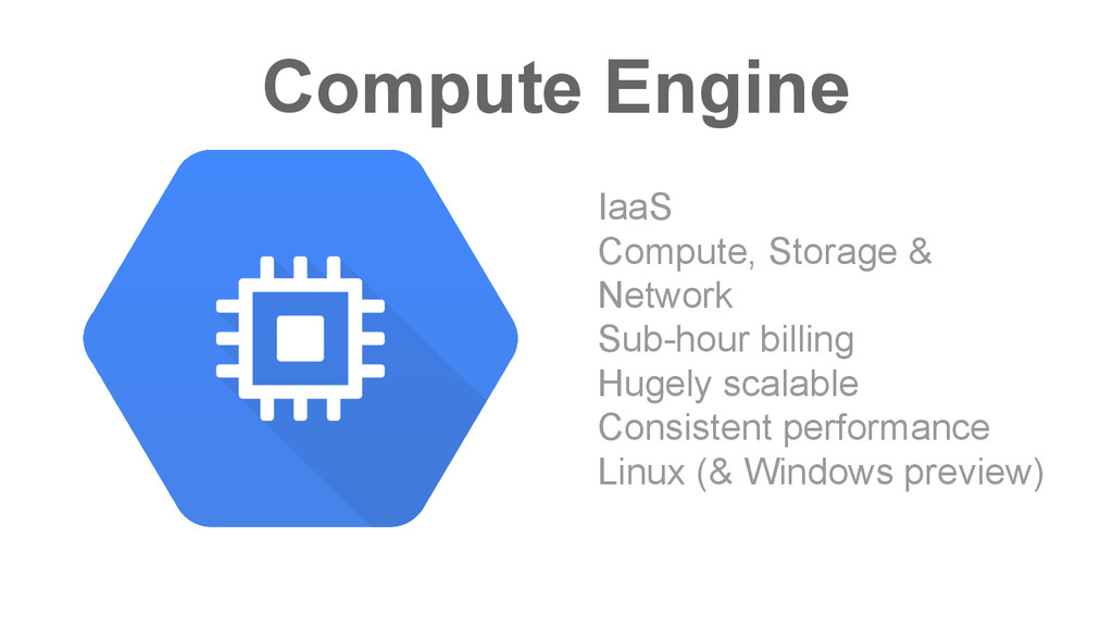 Compute Engine IaaS Compute, Storage & Network ...