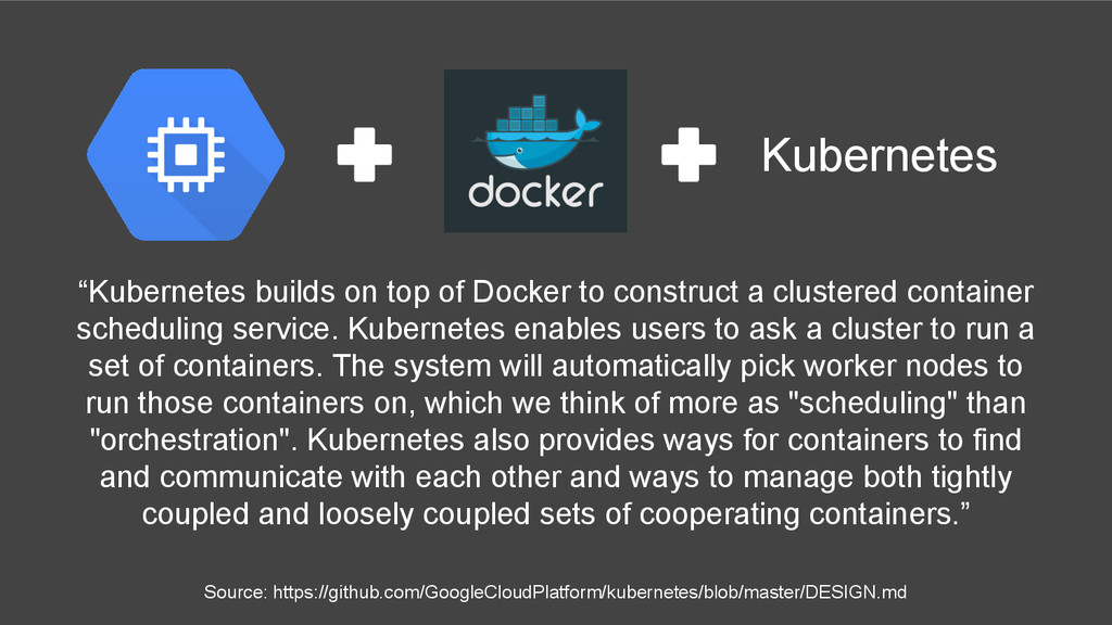"""Kubernetes builds on top of Docker to construc..."