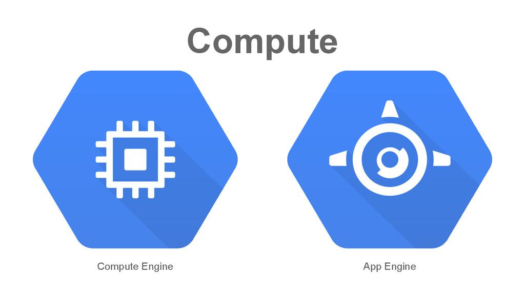Compute Compute Engine App Engine