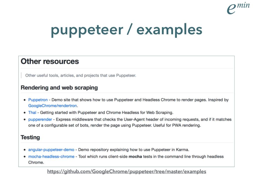 puppeteer / examples https://github.com/GoogleC...