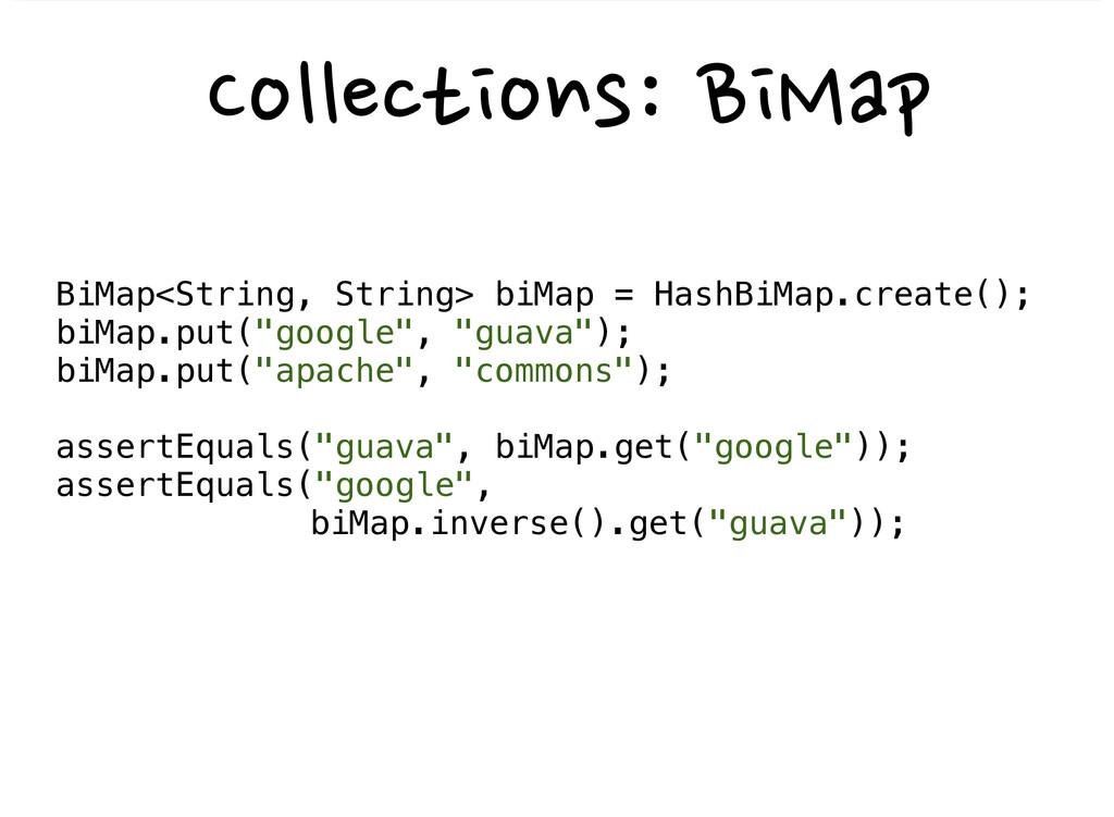 BiMap<String, String> biMap ...