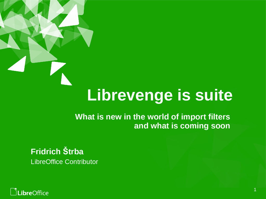 1 Librevenge is suite Fridrich Štrba LibreOffic...