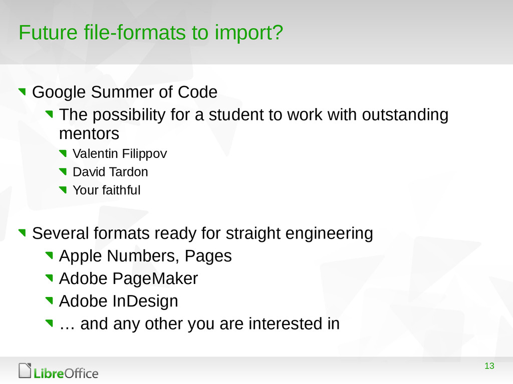 13 Future file-formats to import? Google Summer...