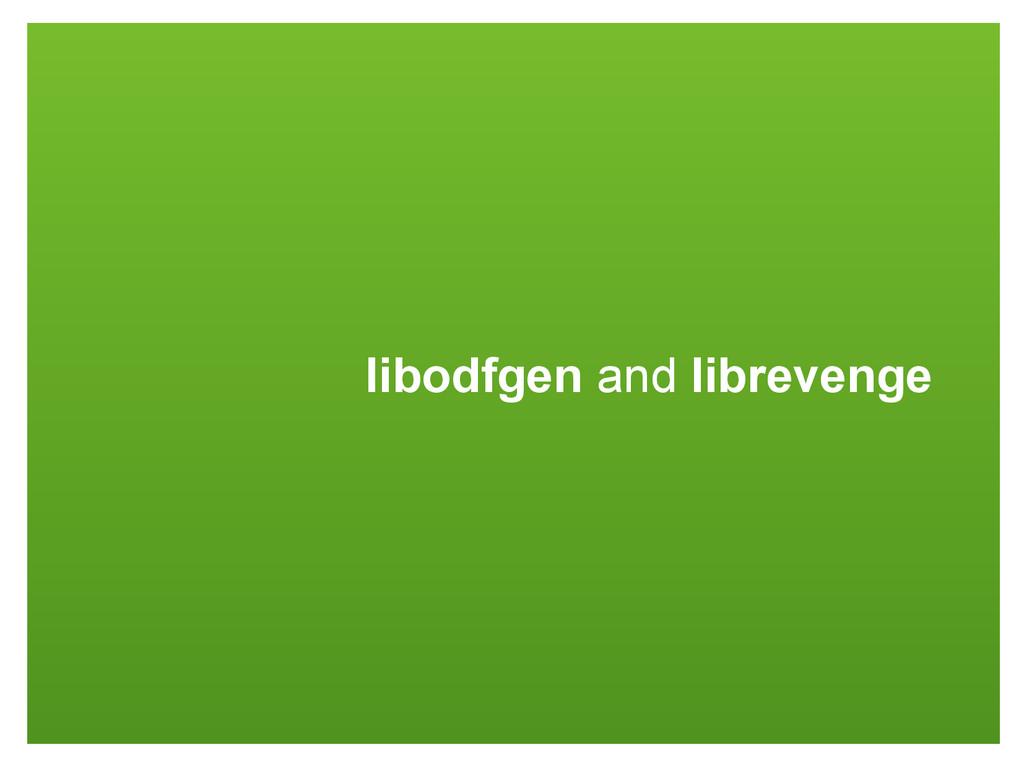 libodfgen and librevenge