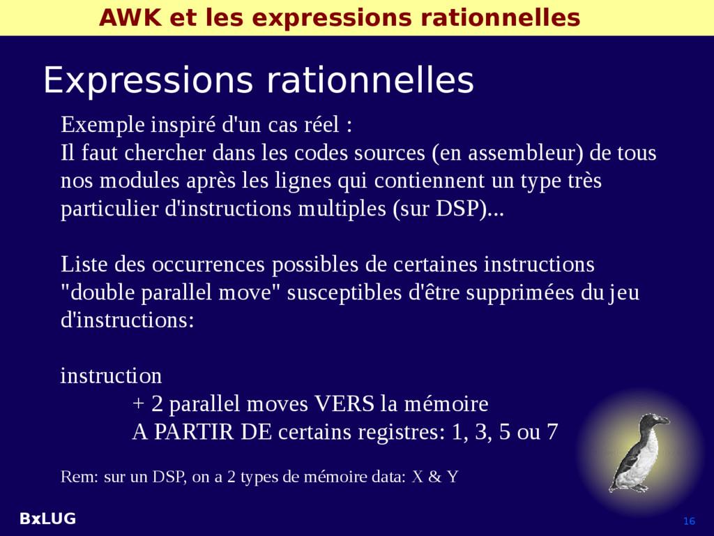 BxLUG 16 AWK et les expressions rationnelles Ex...
