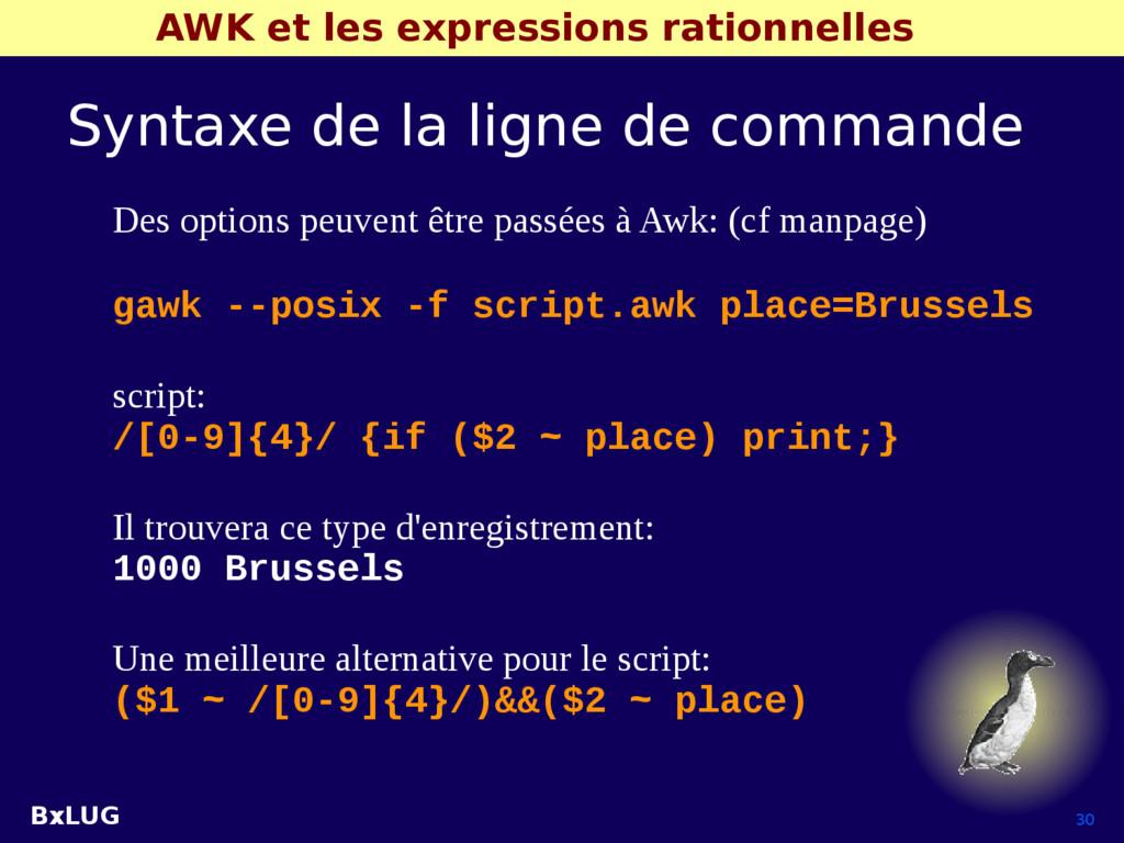 BxLUG 30 AWK et les expressions rationnelles Sy...