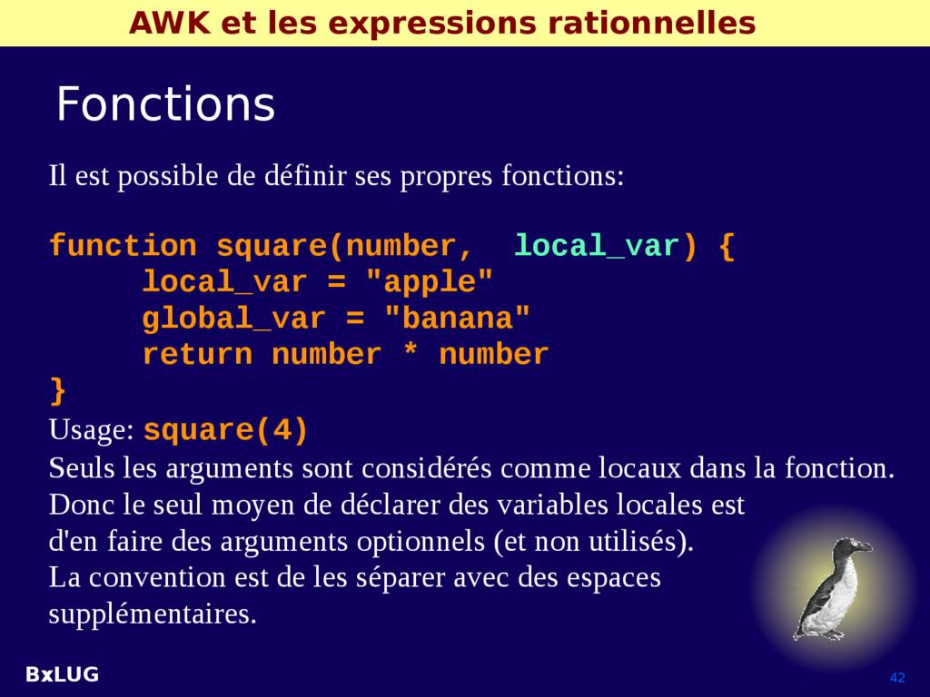 BxLUG 42 AWK et les expressions rationnelles Fo...