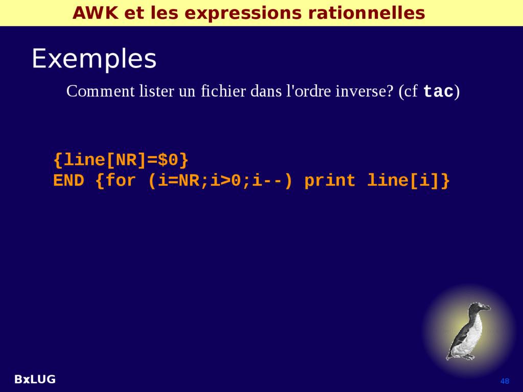 BxLUG 48 AWK et les expressions rationnelles Ex...