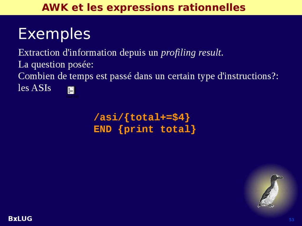 BxLUG 53 AWK et les expressions rationnelles Ex...