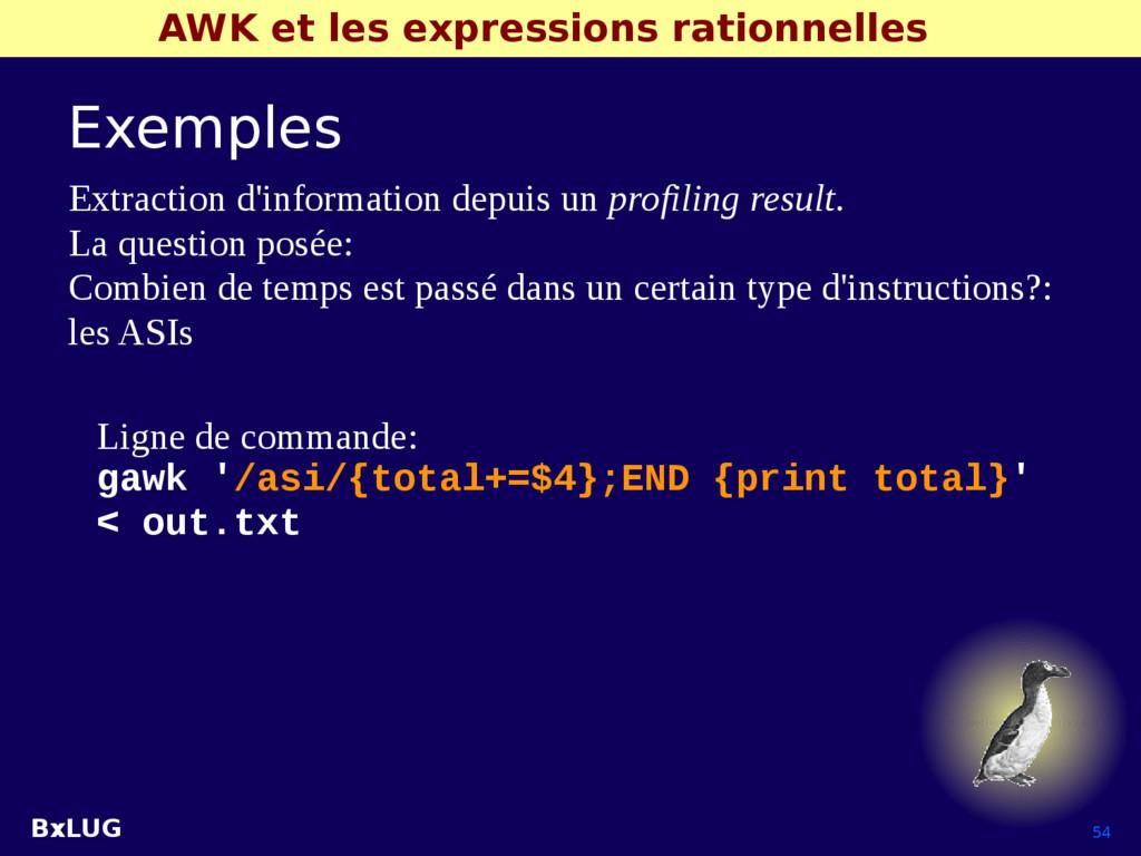 BxLUG 54 AWK et les expressions rationnelles Ex...
