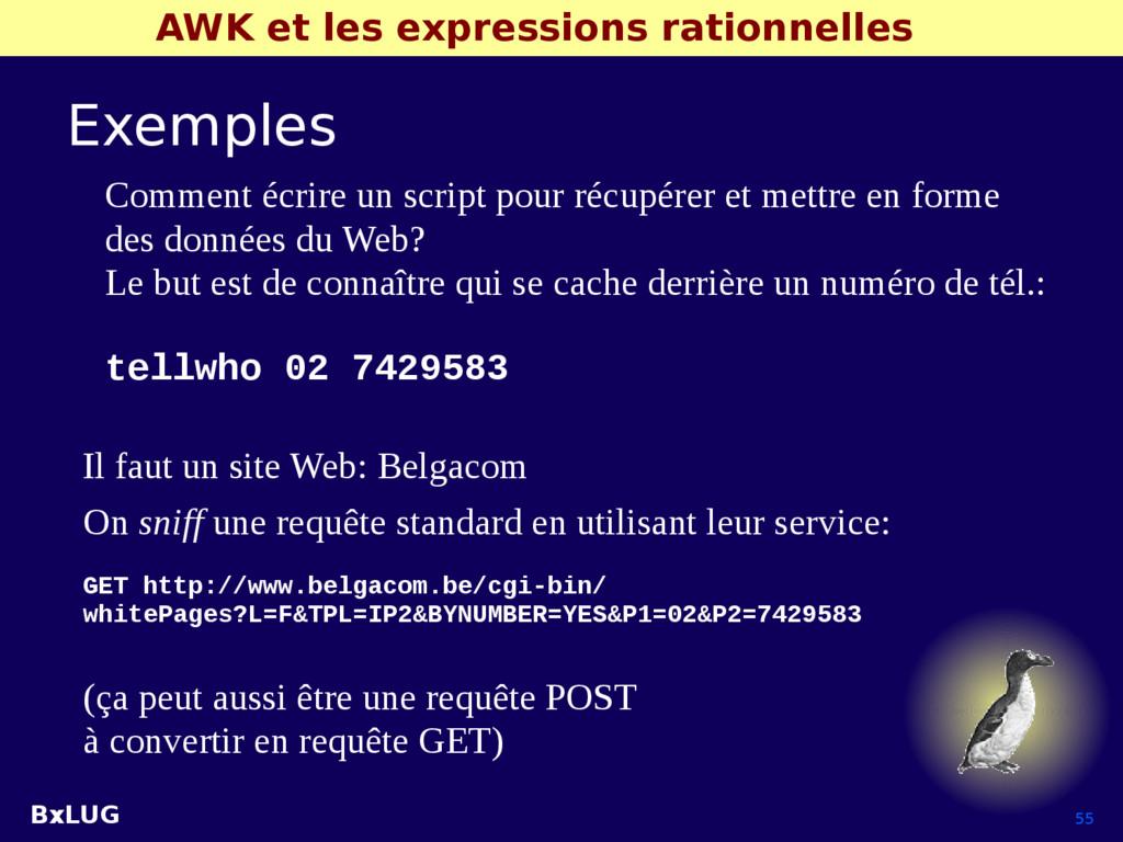 BxLUG 55 AWK et les expressions rationnelles Ex...