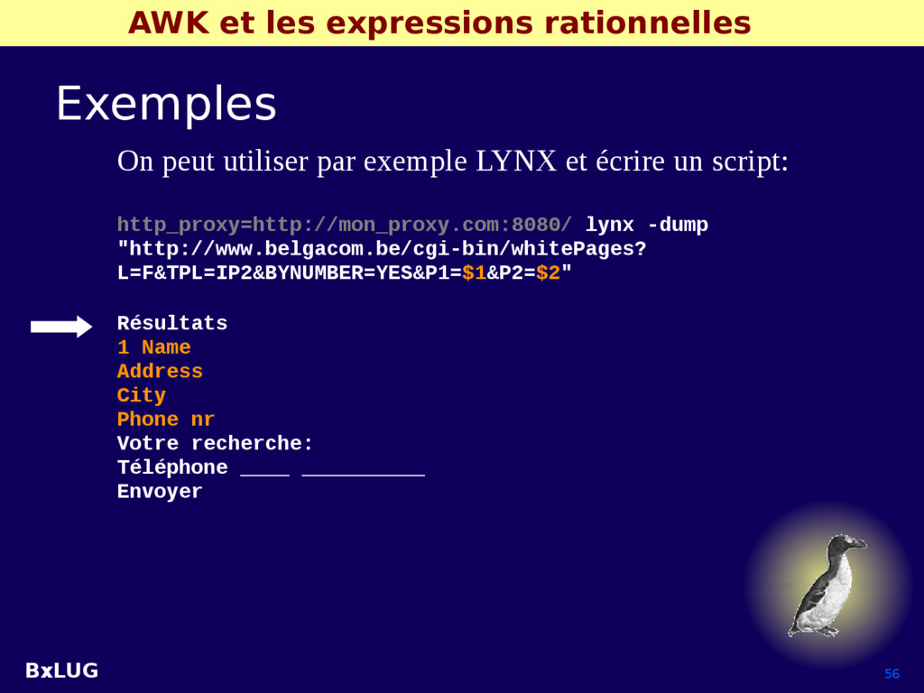 BxLUG 56 AWK et les expressions rationnelles Ex...