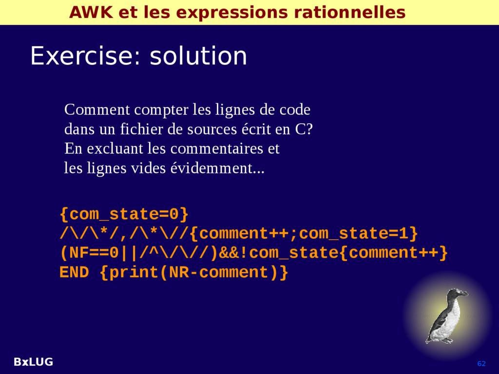 BxLUG 62 AWK et les expressions rationnelles Ex...