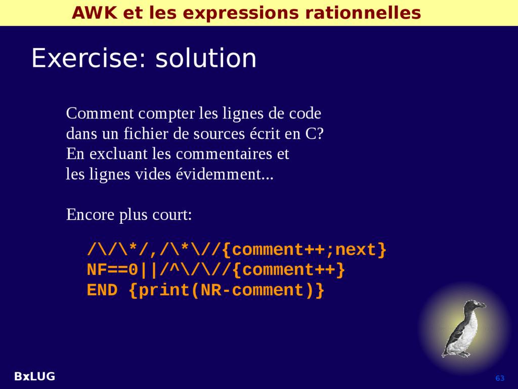 BxLUG 63 AWK et les expressions rationnelles Ex...