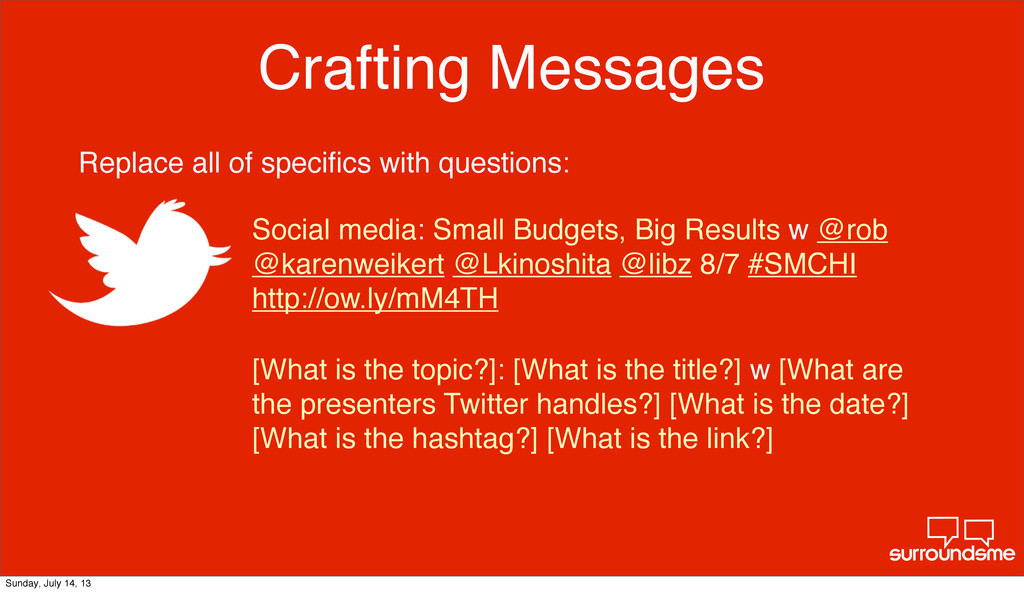 Crafting Messages [What is the topic?]: [What i...