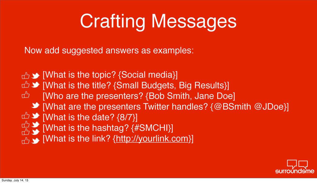 Crafting Messages [What is the topic? {Social m...