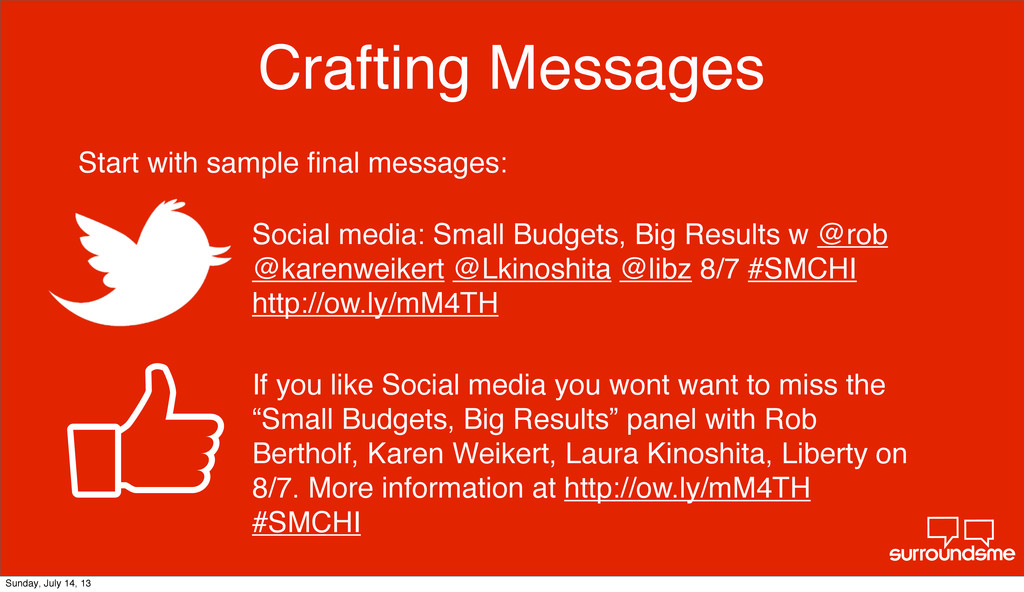 Crafting Messages Social media: Small Budgets, ...