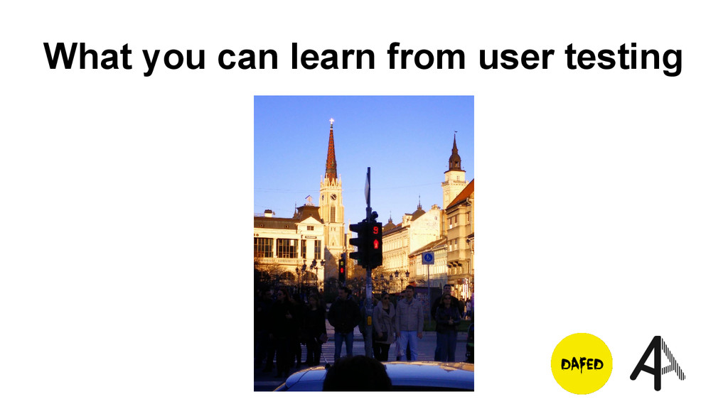 What you can learn from user testing