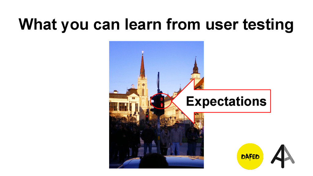 What you can learn from user testing Expectatio...