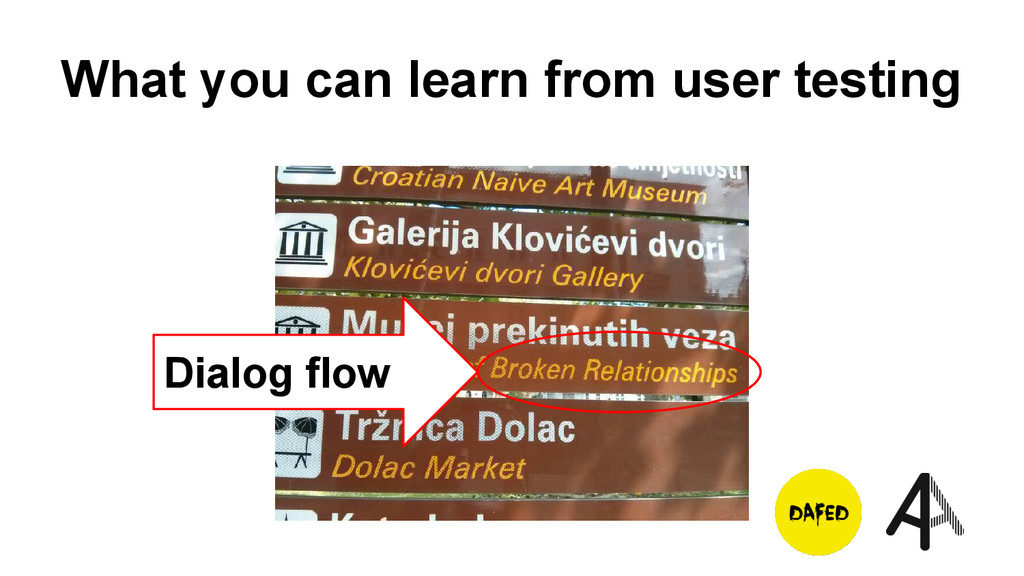 What you can learn from user testing Dialog flow