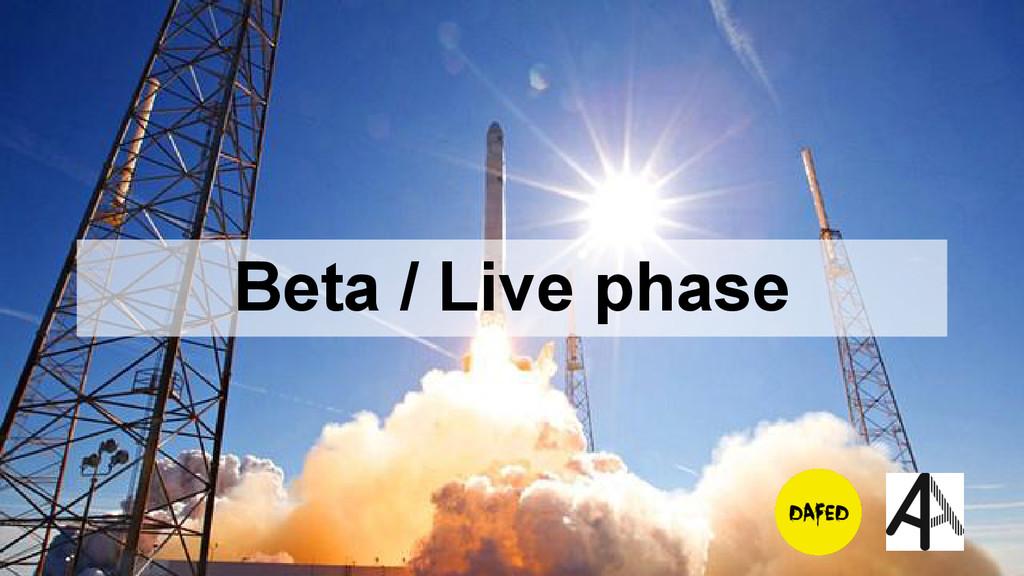 Beta / Live phase