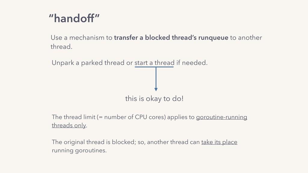 """handoff"" Use a mechanism to transfer a blocked..."