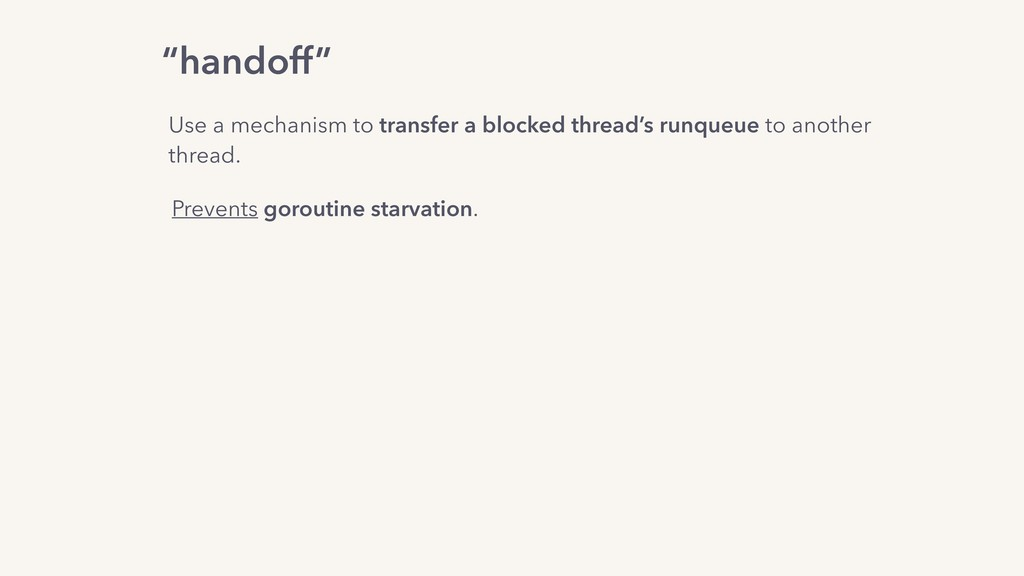 Use a mechanism to transfer a blocked thread's ...
