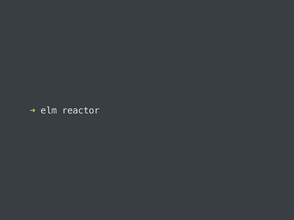 ➜ elm reactor