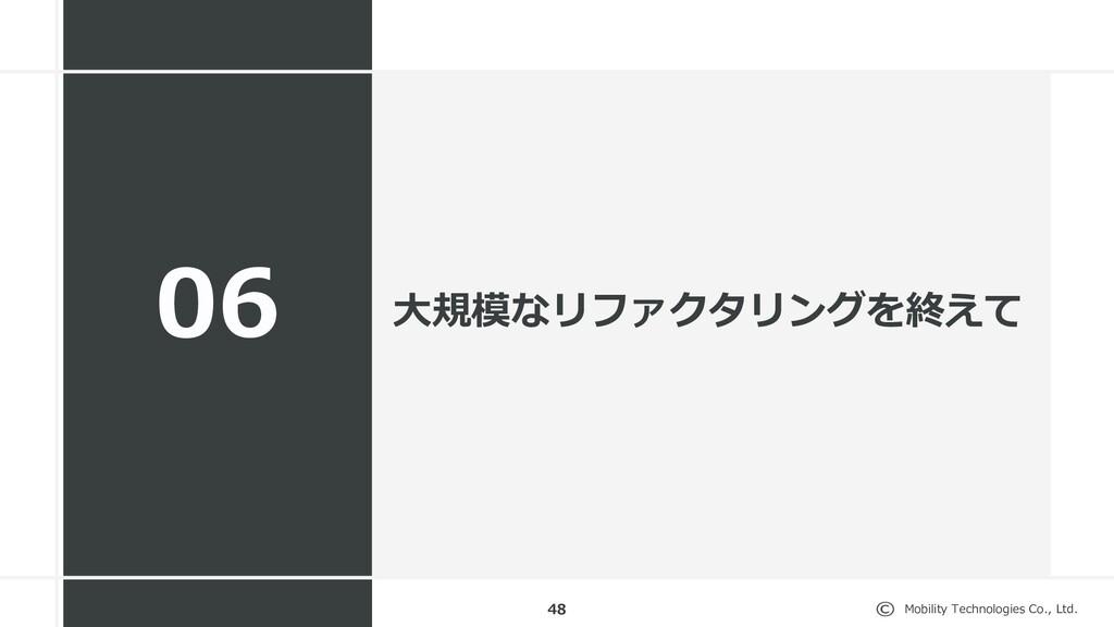 Mobility Technologies Co., Ltd. 48 06 ⼤規模なリファクタ...