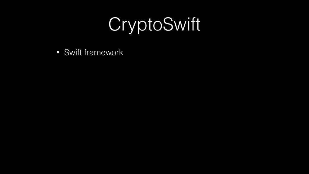 CryptoSwift • Swift framework