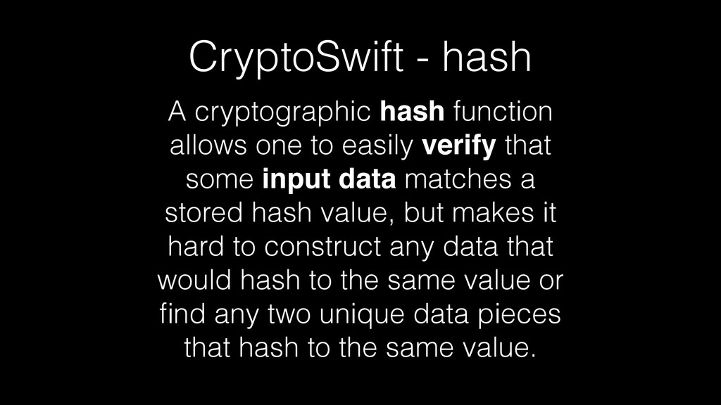 A cryptographic hash function allows one to eas...