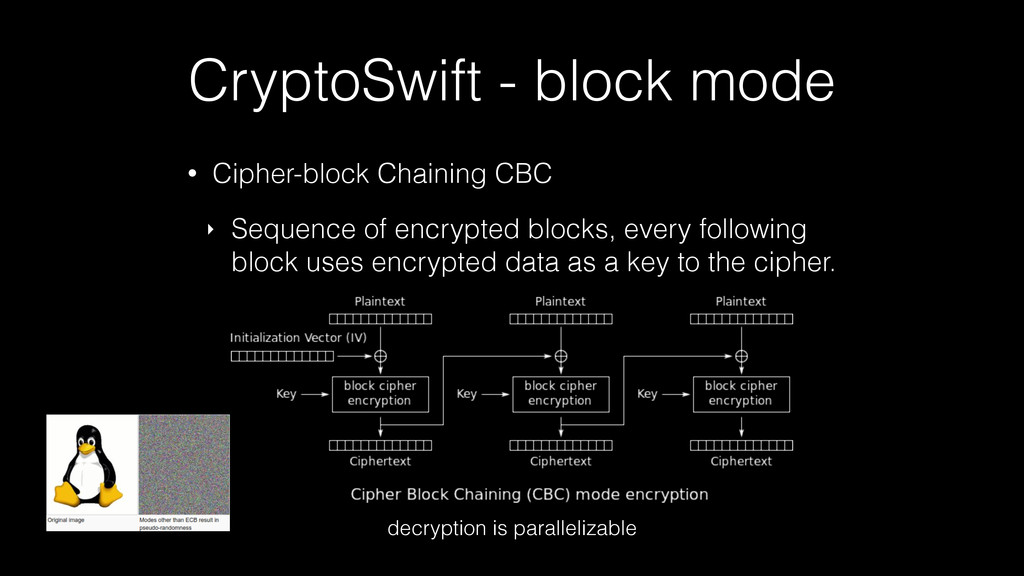 CryptoSwift - block mode • Cipher-block Chainin...