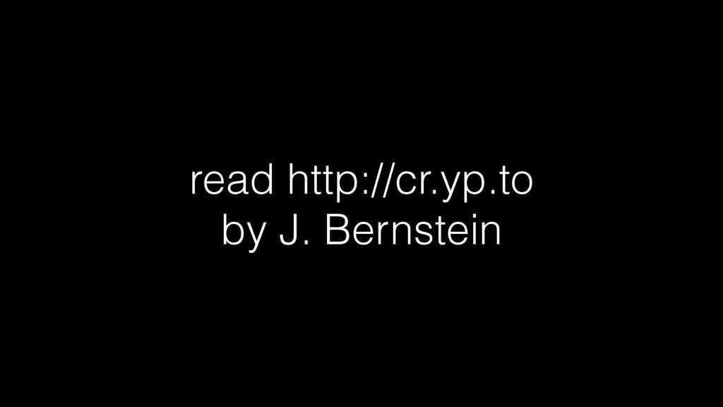 read http://cr.yp.to by J. Bernstein
