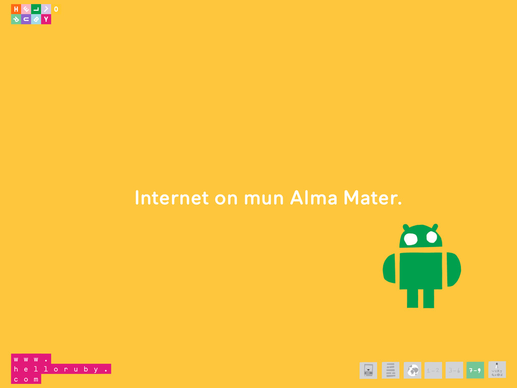 Internet on mun Alma Mater. 1-2 3-6 7-9
