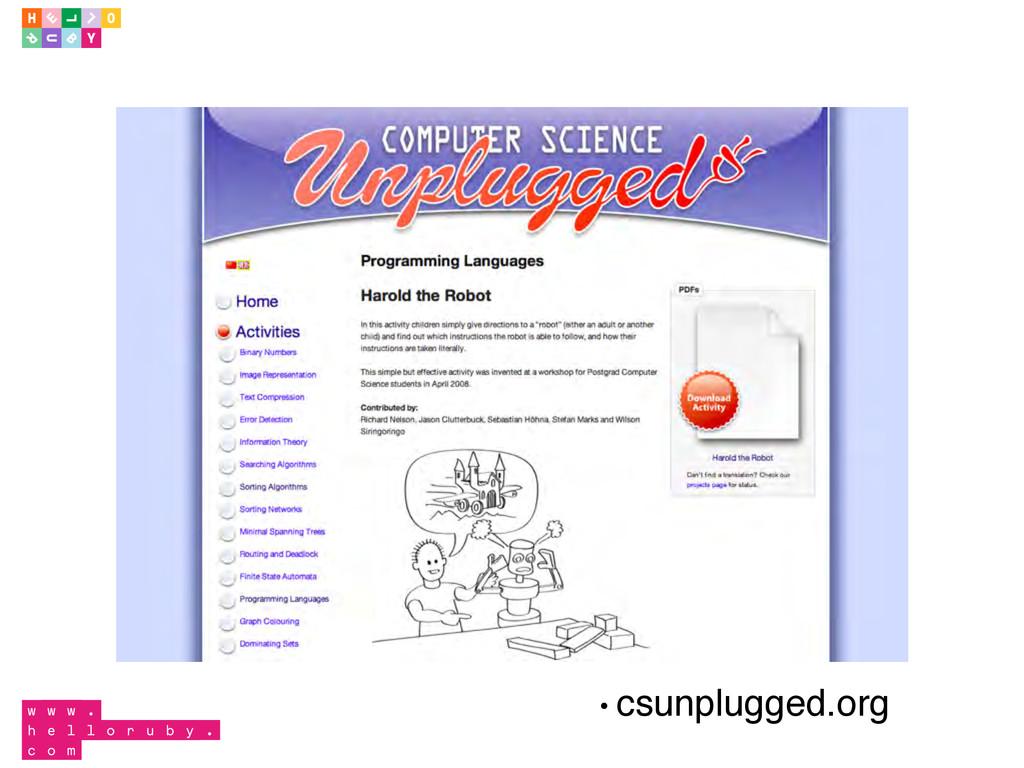 • csunplugged.org