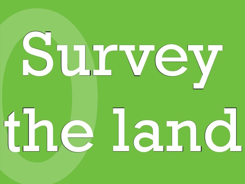0 Survey the land