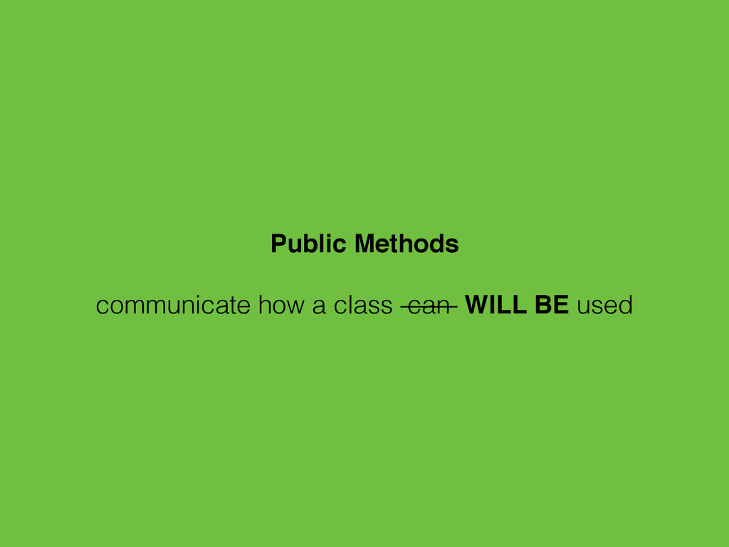 Public Methods