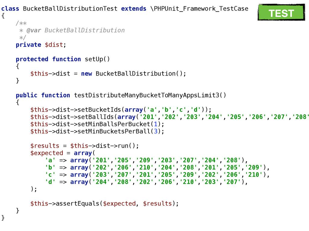 class BucketBallDistributionTest extends \PHPUn...