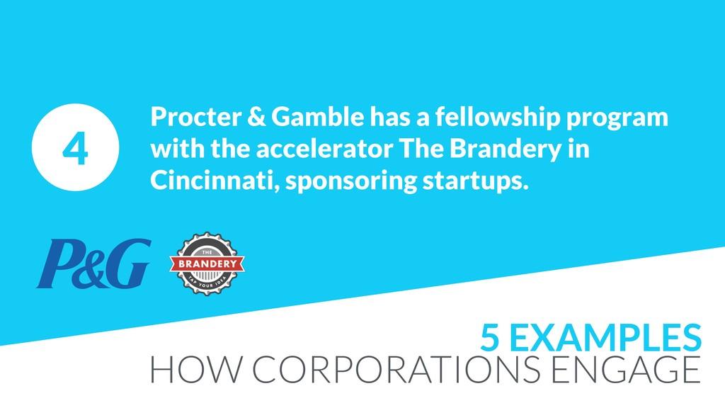 4 Procter & Gamble has a fellowship program wit...
