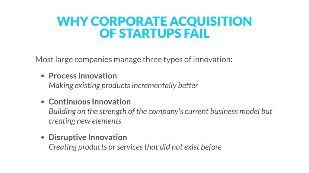 WHY CORPORATE ACQUISITION 