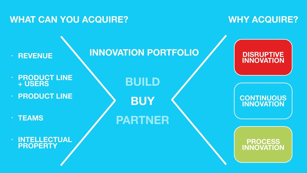WHAT CAN YOU ACQUIRE? INNOVATION PORTFOLIO WHY ...