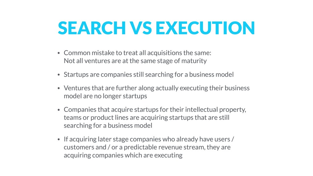 SEARCH VS EXECUTION • Common mistake to treat a...
