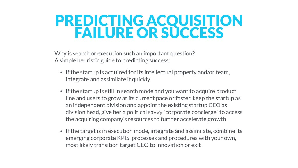 PREDICTING ACQUISITION FAILURE OR SUCCESS Why i...