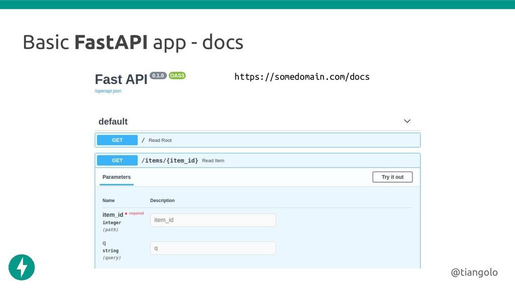 Basic FastAPI app - docs @tiangolo https://some...