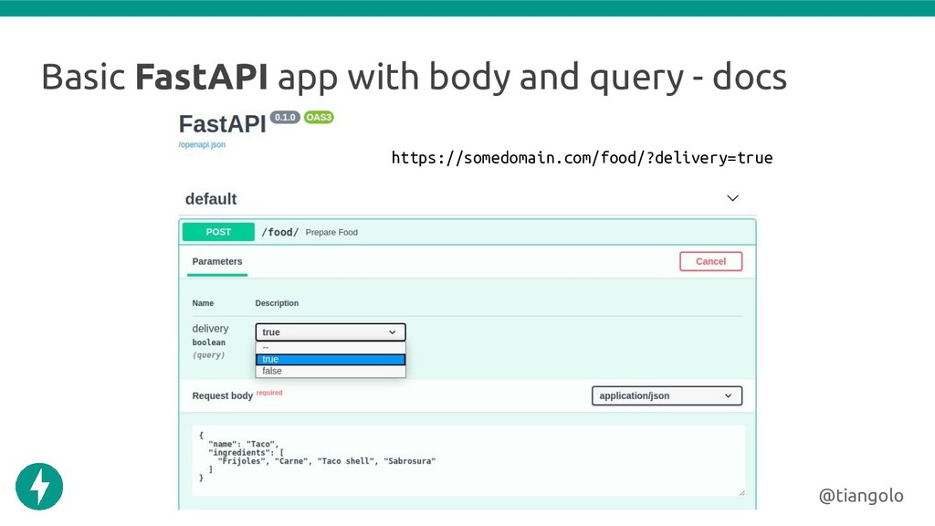 Basic FastAPI app with body and query - docs @t...