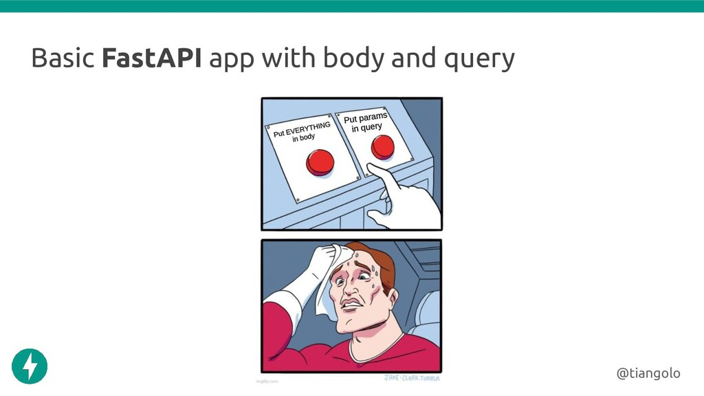 Basic FastAPI app with body and query @tiangolo