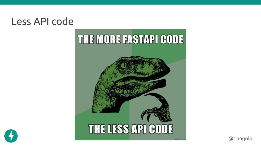 Less API code @tiangolo