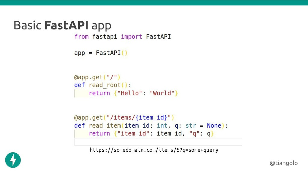 Basic FastAPI app @tiangolo https://somedomain....