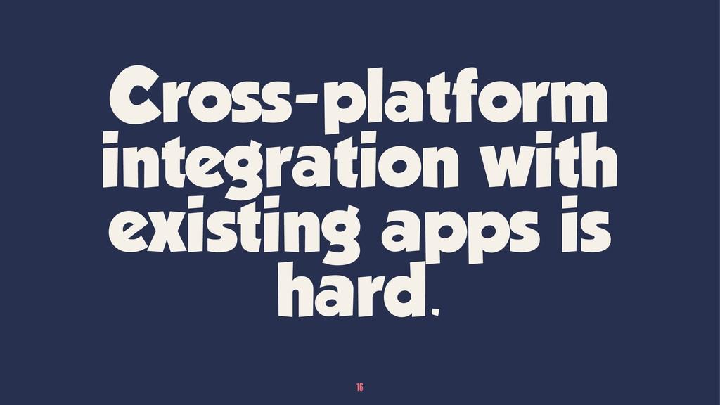 Cross-platform integration with existing apps i...