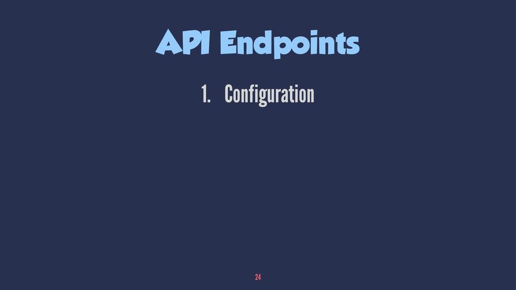 API Endpoints 1. Configuration 24